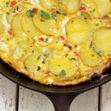 Omleta cu cartofi la cuptor