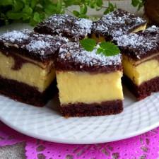 Prajitura cu crema de vanilie si branza crema