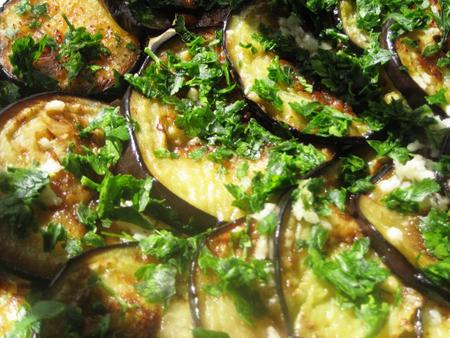 rondele de vinete prajite cu usturoi