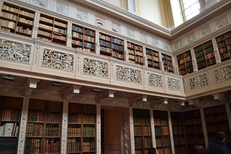 palatul blenheim tur ghid biblioteca