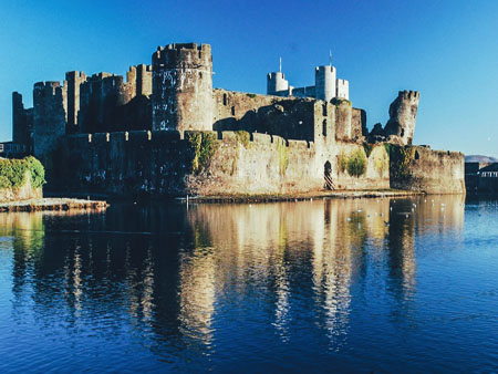5 Castele medievale de poveste din Tara Galilor Caerphilly