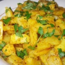 Cartofi prajiti picanti cu coriandru