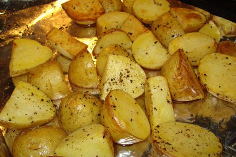 Cartofi la cuptor cu unt si oregano