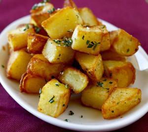 Cartofi la cuptor cu tarhon si usturoi