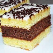 Prajitura cu blat de vanilie si ciocolata