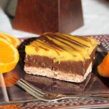 Prajitura cu crema de portocale si ciocolata