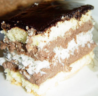 Prajitura cu ciocolata si cocos