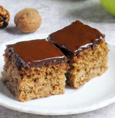 Prajitura cu nuci mere si ciocolata